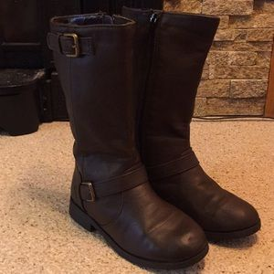 Girls Size 2 Sonoma Brown Riding Boots Man Made
